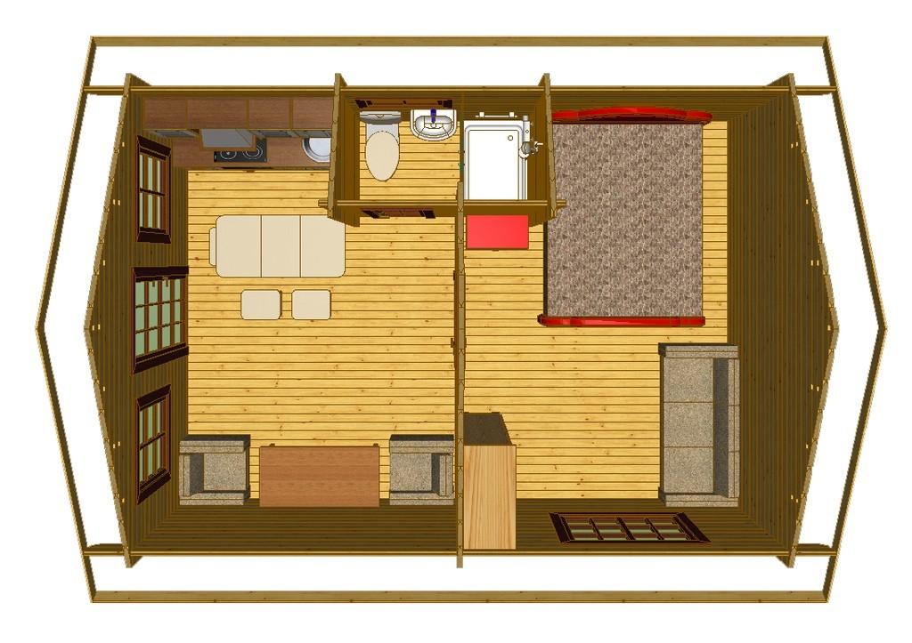 Дачный дом 6 х 4 м
