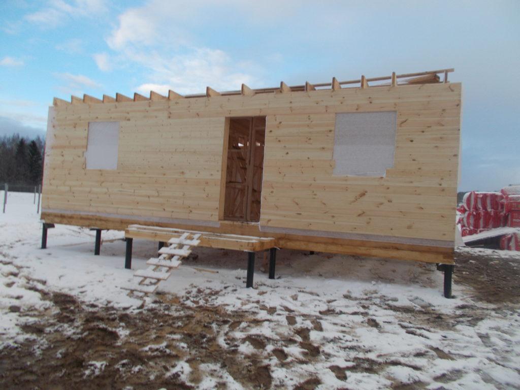 Построили дом в Ярославской области п. Туношна